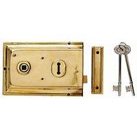 Yale P-334-BPB Rim Door Lock - Brass