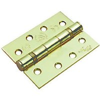 4FireDoors Ball Bearing Hinge - Brass 102 x 76 x 3mm Pack of 3