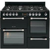 Leisure Cookmaster 110cm Dual Fuel Range Cooker - Black.