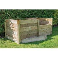 Forest Garden 3 x 3ft Slot Down Wooden Compost Bin Extension Kit