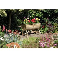 Rowlinson Pressure Treated Marberry Barrel Planter - 715mm x 1m