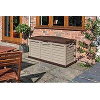 Rowlinson Plastic Garden Storage Box Bench