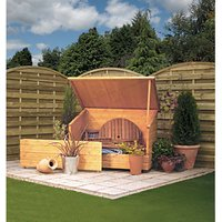 Rowlinson 5 x 3 ft Shiplap Timber Garden Chest Honey Brown