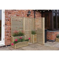 Rowlinson Vertical Timber Slat Screen - Pack of 4