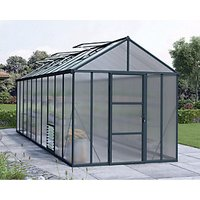 Palram 8 x 20 ft Glory Anthracite Long Aluminium Apex Greenhouse with Polycarbonate Panels
