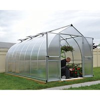 Palram 8 x 16 ft Bella Silver Long Aluminium Bell Shaped Greenhouse with Polycarbonate Panels