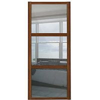 Spacepro 3 Panel Shaker Walnut Frame Mirror Door - 610mm