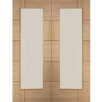 XL Joinery Ravenna Fully Glazed Oak 10 Panel Door Pair - 1981mm x 584mm
