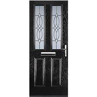 Euramax 2 Panel 2 Square Black Left Hand Composite Door 920mm x 2100mm