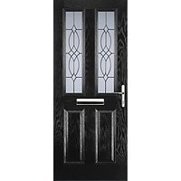 Euramax 2 Panel 2 Square Black Left Hand Composite Door 880mm x 2100mm