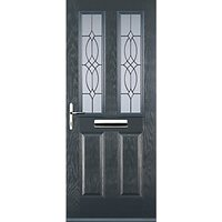Euramax 2 Panel 2 Square Grey Right Hand Composite Door 880mm x 2100mm
