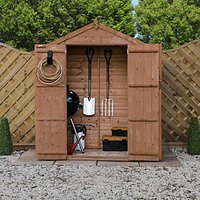Mercia 3 x 6 ft Timber Shiplap Apex Shed with Assembly
