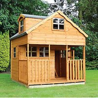 Mercia 7 x 7 ft Double Storey Cottage Playhouse with Assembly