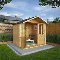 Mercia 7 x 7ft Traditional Double Door Summer House including Veranda
