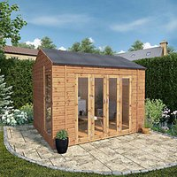Mercia Vermont 10 x 8ft Large Summer House including Double Bi-Fold Doors