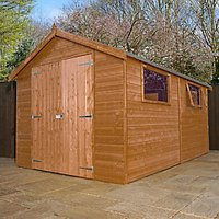 Mercia 12 X 8 Ft Pressure Treated Shiplap Apex Garden Workshop with Assembly