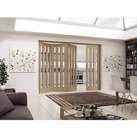 Jeld-Wen York Fully Glazed Oak 3 Lite Internal Bi-Fold 4 Door Set - 2047mm x 2545mm