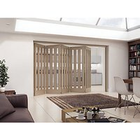 Jeld-Wen York Fully Glazed Oak 3 Lite Internal Bi-Fold 5 Door Set - 2047mm x 3158mm