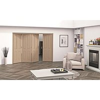 Jeld-Wen Cobham Oak 4 Panel Internal Bi-Fold 4 Door Set - 2047mm x 2545mm