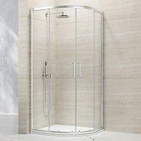 Nexa By Merlyn 8mm Chrome Quadrant Single Sliding Door Shower Enclosure - 900 x 900mm
