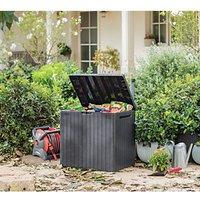 'Keter City Outdoor Plastic Garden Storage Box - Graphite