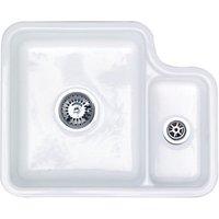 Wickes Contemporary 1.5 Bowl Undermount Ceramic Kitchen Sink - White.