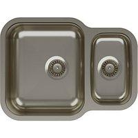 Abode Vista 1.5 Bowl Reversable Undermount Stainless Steel Kitchen Sink