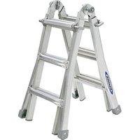 Werner Telescopic 4 x 3 Aluminium Combination Ladder.