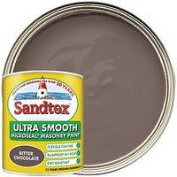 Sandtex Ultra Smooth Masonry Paint - Bitter Chocolate 1L