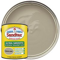 Sandtex Ultra Smooth Masonry Paint - French Grey 5L