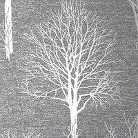Boutique Landscape Charcoal Wallpaper - 10m.