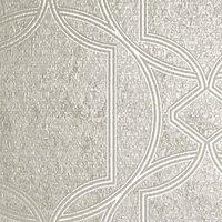 Boutique Deco Geometric Ecru Wallpaper - 10m.