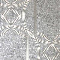Boutique Deco Geometric Taupe Wallpaper - 10m.