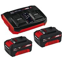 Einhell 2x 3.0Ah PXC Battery Starter Set with Charger & x2 Batteries.