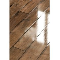 Wickes Chenai Dark Oak High Gloss Laminate Flooring Sample