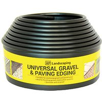 Gravel and Paving Edging Black 5.5m