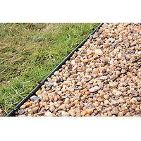 Gravel and Paving Edging Black 10m