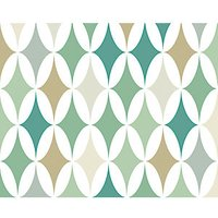 ohpopsi Green Formation Wall Mural - L 3m (W) x 2.4m (H).