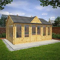 Mercia 4m x 5.5m 44mm Log Thickness Double Glazed Pool House with Assembly