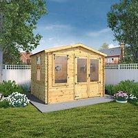 Mercia 2.6 x 3.3m 19mm Log Thickness Log Cabin