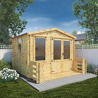 Mercia 3.3m x 3.7m 19mm Log Thickness Log Cabin with Assembly