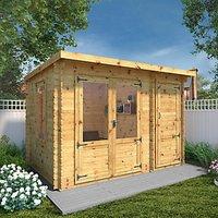 Mercia 3.5m x 2.4m 19mm Log Thickness Delamere Log Cabin