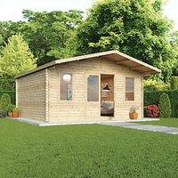 Mercia 5m x 5m 34mm Log Thickness Haven Log Cabin