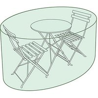 Charles Bentley Small Round Tarpaulin Garden Furniture Set Cover - Green