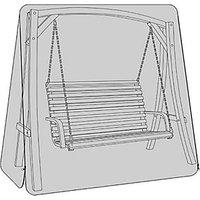 Charles Bentley 3 Seater Wooden Garden Swing Seat Waterproof Cover - Black