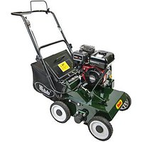 Handy 38cm Petrol lawn scarifier with 22 Handy reversible steel flails and collector