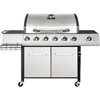 Charles Bentley 7 Burner 6 Side Premium Gas BBQ - Silver