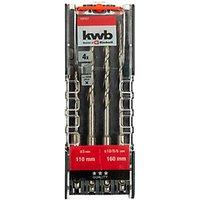 Einhell Kwb 4 Piece Sds Plus Shank Hammer Drill Bit Set.