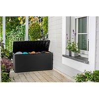 'Keter Emily Outdoor Plastic Garden Storage Box - Graphite