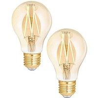 4lite WiZ Connected LED SMART E27 Filament Light Bulb Amber 2 Pack